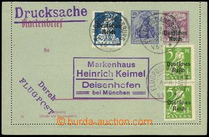 77401 - 1922 letter-card Mi.K19 with printed stmp 20Pf Germania, upr