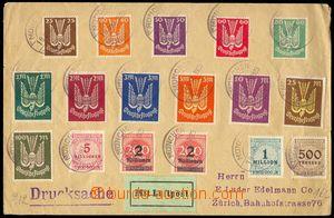 77402 - 1923 let. tiskopis zaslaný do Švýcarska, vyfr. zn. Mi.210