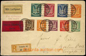 77403 - 1922 R+Ex+Let. dopis vyfr. kompletní sérií leteckých zn.