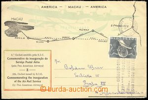 77405 - 1951 air-mail letter with Mi.765, MC Lisbon 23.XI.1951, addr