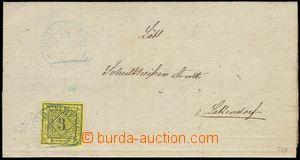 77413 - 1852 skládaný dopis vyfr. zn. Mi.2, pěkný střih, 2x mod