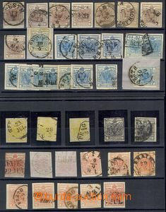 77435 - 1850 Mi.1-5, selection of 38 pcs of stamps the first issue.,