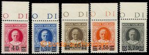 77443 - 1934 Mi.39-42, 44, overprint on stmp Pope Pius XI., incomple