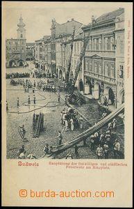 77456 - 1900 ČESKÉ BUDĚJOVICE (Budweis) - hasiči na náměstí;