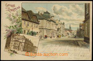 77457 - 1900 OPAVA (Troppau) - Panská street (Herrengasse), lithogr