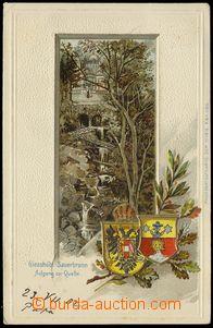 77462 - 1902 KYSELKA (Gießhübl-Sauerbrunn) - litografická koláž