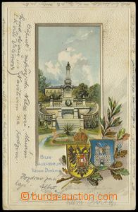 77463 - 1901 BÍLINA (Bilin-Sauerbrunn) - lithography, coats of arms
