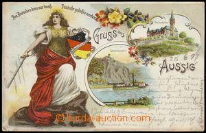 77466 - 1897 ÚSTÍ NAD LABEM (Aussig) - litografická koláž, něm