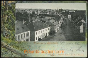 77470 - 1904 BŘECLAV - collage, view of street; long address, Us, b
