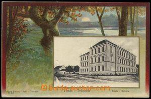 77473 - 1905 TŘEŠŤ (Triesch) - škola, kombinovaná koláž; DA,