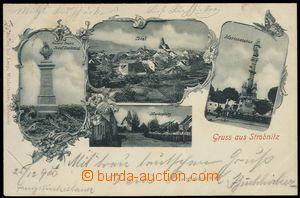 77478 - 1900 HORNÍ STROPNICE (Strobnitz) - 4-okénková koláž, po