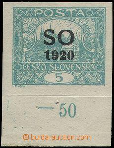 77536 -  Pof.SO3 Is, nezoubkovaná 5h modrozelená, dolní okraj s p