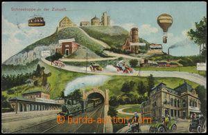 77552 - 1911 KRKONOŠE - collage future; Us, light fold in corner