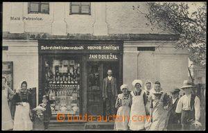 77560 - 1925 PETROVIČKY (Malé Petrovice) - obchod Jan Doležal, li