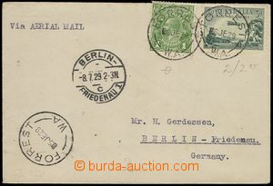 77565 - 1929 air-mail letter to Germany with 1d postage stmp + 3d ai