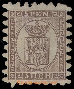 77617 - 1866 Mi.5B Coat of arms, without gum, examination recommende