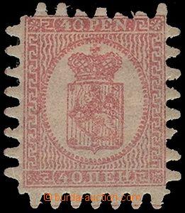 77618 - 1866 Mi.9C Coat of arms, larger hinge, 2x short teeth, good