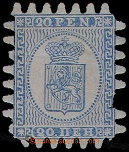 77620 - 1866 Mi.8C Coat of arms,  blued paper, 1x missing tooth, 1x