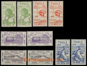 77621 - 1935-36 THULE  Mi.1-5, 25. anniv of foundation villages, 2x