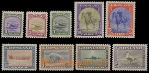 77622 - 1945 GREENLAND, Mi.8-16, complete set New Yorker issue, good