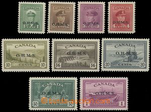 77626 - 1949 Official stamps Mi.1-9, overprint OHMS, nice quality, c