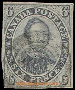 77627 - 1851 CANADA  Mi.3a Prince Albert, black-violet,  imperforate