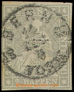 77643 - 1862 Mi.19 Seated Helvetia, imperforated, stronger paper, gr