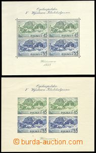 77646 - 1938 Mi.327-328 (Block 5 A+B), comp. 2 pcs of miniature shee