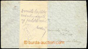 77651 - 1929 BEZPLATNÉ DORUČENÍ  dopis bez frankatury s úředně