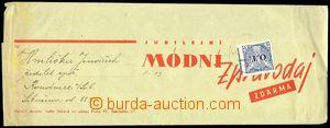 77652 - 1936 OBCHODNÍ TISKOPIS  novinový rukáv vyfr. zn. 20h modr