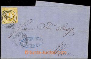 77676 - 1861 dopis do Vídně vyfr. zn. Mi.23, 9Kr oranžová, 3-kru