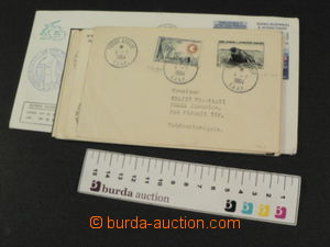 77684 - 1964-89 T.A.A.F. comp. 11 pcs of letters from French expedic