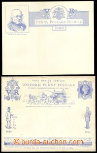 77685 - 1890 anniv. envelope Mi.U11 to occasion 50 years 1 pennyové