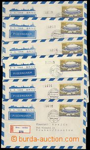 77689 - 1966 CHP2 BRNO 1966, comp. 6 pcs of pigeongrams, incl. R env