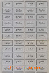 77696 - 1928 AIRMAIL LABELS ,  Hor.NP2a, complete. print sheet parce