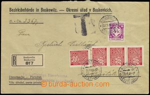 77722 - 1941 R service letter franked with. official stmp Pof.SL11 (