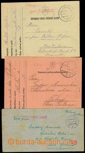 77726 - 1941-3 3 pcs of entires Slovak FP, 1x FP letter 52, 2x FP ca