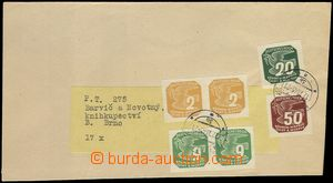 77729 - 1945 newspaper wrapper franked with. Bohemian and Moravian n