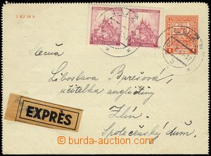 77740 - 1940 CZL2, parallel letter-card Czechoslovakia  uprated with