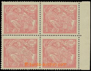 77752 -  Pof.166B, 300h red, block of four with margin, comb perfora