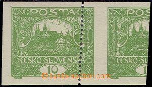 77753 -  Pof.6ZT  zelená 10h, zkusmý tisk na papíru s lepem a č�