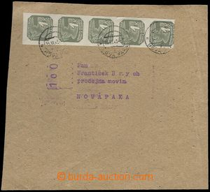 77778 - 1945 part newspaper cover with address and franking, franked