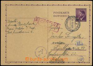 77796 - 1943 CDV16, to Italy  occupied Ljubljana, less clear pmk  NO