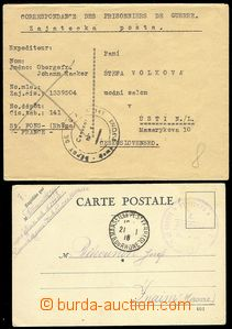 77800 - 1918 - 45 FRANCE / PRISONER OF WAR MAIL  card without franki