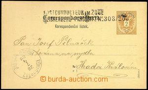 77813 - 1889 2-řádkové konduktérské razítko POSTCONDUCTEUR IM