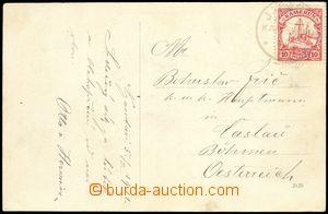 77835 - 1911 KAMERUN  pohlednice zaslaná do Čech, vyfr. zn. Mi.9 ,