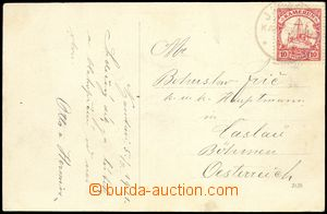 77835 - 1911 CAMEROON  postcard to Bohemia, with Mi.9 , very thin/li
