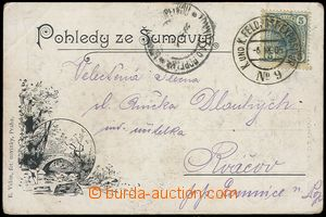 77848 - 1905 postcard VOLYNĚ sent from imperial manoeuvres, with Fr