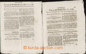 77855 - 1798 AUSTRIA  insert to Brünner (Brno) Zeitung, No. 78, lig