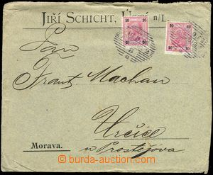 77868 - 1903 Maxa G35, commercial envelope with stamps Franz Joseph